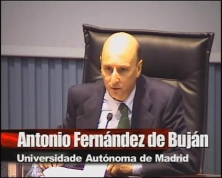 Antonio Fernández de Buján, catedrático de Dereito Romano da Universidade Autónoma de Madrid. - Xornadas sobre a administración cidada: Interese histórico e a súa proxección no dereito actual